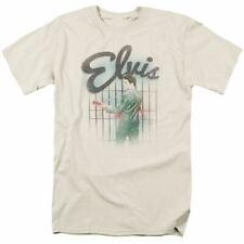 Elvis Presley Colorful King T Shirt Mens Licensed The King Tee Cream