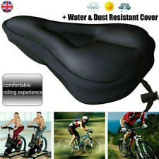 Bike Cycle Bicycle Extra Comfort Gel Pad Cushion Cover Cycling Saddle Seat UK