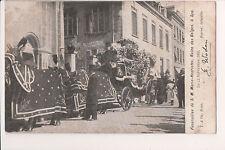 Vintage Postcard Funeral Queen Marie Henriette Belgium