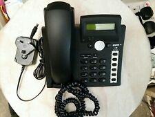 Teléfono snom VoIP 300 en negro con PSU