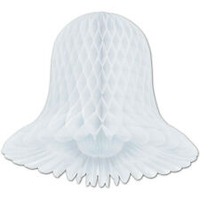 """2 Westminster honeycomb bells paper decoration white 9"""" dia"""