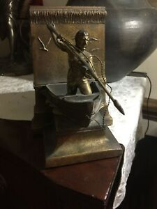 Very Nice Bronze circa 1920's expandable bookholder The whalemen