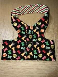 Dog Harness Vest Handmade Red Green Bones And Paws S 2421, 2422
