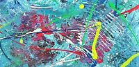 "ORIGINAL PAINTING Signed ""Fruit Fusion"" acryl.12x24 newly collected Steve Graff"