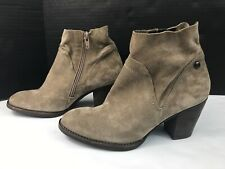 Paul Green Nora Water Resistant Bootie Ankle Boots Tan Brown Suede AT 4.5 / US 7
