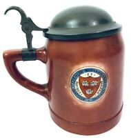 Harvard University Beer Stein Tankard Pottery Stein Decor Professor Crest Gift