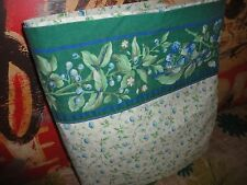 LAURA ASHLEY BRAMBLE GREEN VIOLET BERRIES FLORAL QUEEN FLAT SHEET 88 X 94""