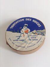 Ancienne boite  a fromage Tentation des neiges Marcillat Corcieux Vosges