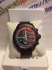 Diesel Mega Chief Iridescent Crystal Leather 51mm Men's Watch DZ4311 NEW $225.00