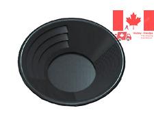SE GP1012BB10 10-Inch Black Gold Pan Plastic Body Dual Riffles