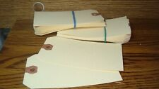 """#50 Fifty Manila UNSTRUNG size #5 BLANK SHIPPING TAGS 4 3/4"""" x 2 3/8"""" SCRAPBOOK"""