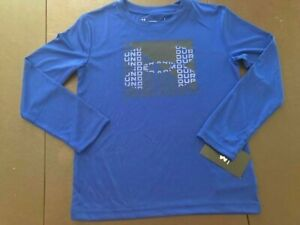 NWT Under Armour Boys Youth UA Big Logo LS Shirt Royal Blue Size 7 UAHEA40E 402
