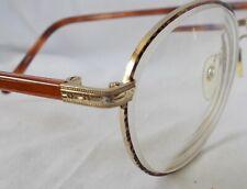 Vintage Meridian Wire Rim Gold Tortoise Eyeglass Frames 50[]19-135 Men Women