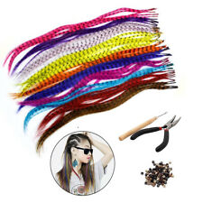 35Pcs Synthetic Feathers Hair Extension Accessories +100 Beads+One Plier+Hook