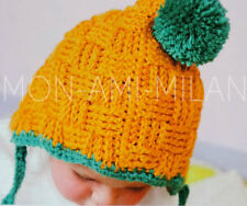 Crochet Pattern BASKETWEAVE PIXIE BOBBLE HAT Baby Babies Toddlers Childrens ARAN