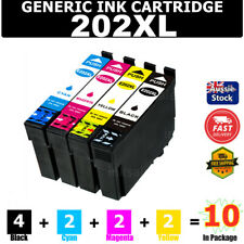 6x Ink Cartridge Compatible 202 XL 202XL for Epson Wf2860 Wf-2860 Xp5100 Xp-5100