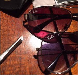 (4) 1cm sticker decal logo for glasses RAY BAN Aviators wayfare prescription