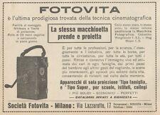 Z1699 FOTOVITA - Proiettore - Cinepresa - Pubblicità d'epoca - 1922 Old advert