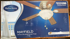 New Harbor Breeze Mayfield  44 inch Ceiling Fan Brushed Nickel