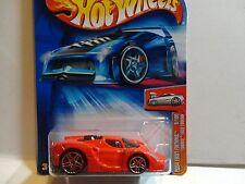 2004 Hot Wheels #9 Red Tooned Enzo Ferrari w/PR5 Spoke Wheels Black Chrome Motor