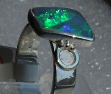 Crystal Opal 2.3 Karat 950er Silberring Größe 19,7 mm Unikat