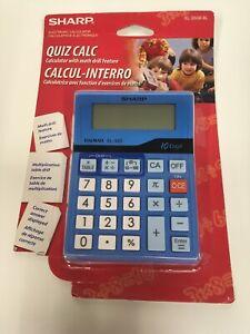 New Sealed Sharp EL-S50B-BL Quiz Calculator Calc Calcul-interro 10 digit LED