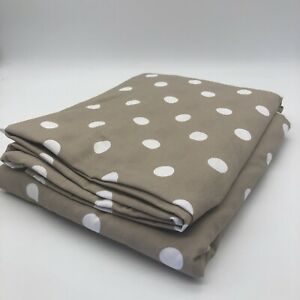 New Clarisse 100% Cotton Double Duvet Cover Polka Dot Nude Beige White