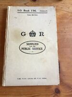 VINTAGE EPHEMERA S O BOOK 136 INDEXED G R SUPPLIED FOR THE PUBLIC SERVICE