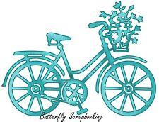 Springtime Bicycle Bike Die Craft Steel Die Cutting Die Cottage Cutz CCE-122 New