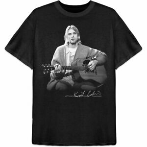 Nirvana Kurt Cobain Guitar Men's Black T-Shirt Licensed Merchandise S M L XL