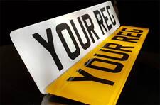 Pair HIGH QUALITY Standard Car Van Legal Number Plates MOT Compliant FREE SHIP