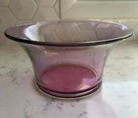Antique Westmoreland Magenta Purple Glass Bowl/Vase Vintage