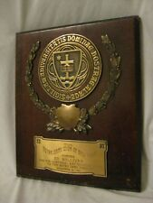 rare 1 vintage Notre Dame New York Club Honors Ed Sullivan plaque 1961 Balfour