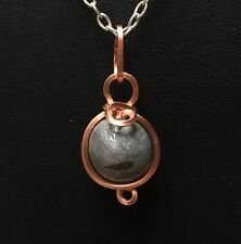 Gibeon Iron Bead & Copper Wire Wrapped Pendant (c) by Meteorite Men Steve