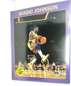 Vintage '88 LA Lakers Magic Johnson Starline 16x20 Poster - Suitable for Framing