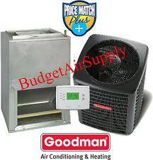 1.5(1-1/2) Ton 13 seer Goodman A/C Wallmount front ret GSX13018+AWUF180516+Heat