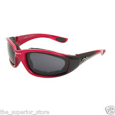 Xsportz Foam Padded Interior Frames XS48 Red Black Biker Motorcycle Sunglasses