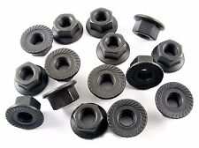 Serrated Nuts For Nissan- M8-1.25 Thread- 13mm Hex- 18mm Flange- Qty.15- #181