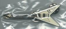White '87 Flying V Gibson Les Paul Guitar Pin Grand Slam RARE OOP Grand Slam