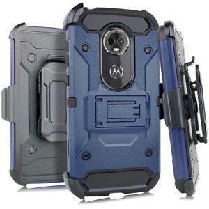 Motorola Moto G7 Play / T-Mobile Revvlry - Hybrid Holster Armor Case + Belt Clip