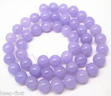 Natural Lavender 8mm Jade Gemstone Round Loose Beads 15'' AAA