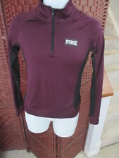 PINK Victoria's Secret Long Sleeve Athletic Shirt 1/4 Zip Running Size XS