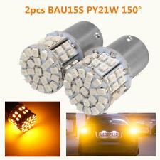 2X LAMPADINA 1156 BAU15S PY21W 150° 50 SMD LED BULBS FRENO STOP CANBUS AUTO