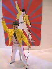 "Freddy Mercury - OOAK Celebrity  Doll - Includes 12""x16 Poster - Queen Tour"