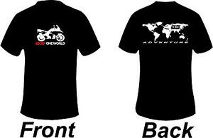 BMW GS1200 Adventure One World Front And Back  Printed T Shirt in 6 Sizes