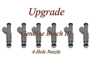 85-97 BMW 2.5 (6)  BOSCH III UPGRADE FUEL INJECTOR SET 4-HOLE NOZZLE
