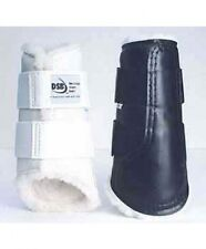 DSB Original Dressage Sport Boots - XLarge Pair - Black with White Fleece Lining