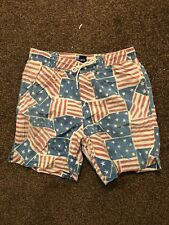 "Mens Asos American Flag USA Print Swimming Swim Shorts 30"" W30"