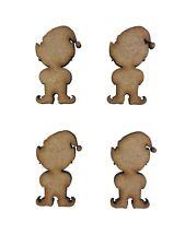 20x Christmas Elf Elves 3cm Wood Craft Embelishments Laser Cut Shape MDF