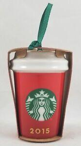 Starbucks 2015 Rouge Ombre Noël Tree Ornement Boisson Tasse Vacances Céramique